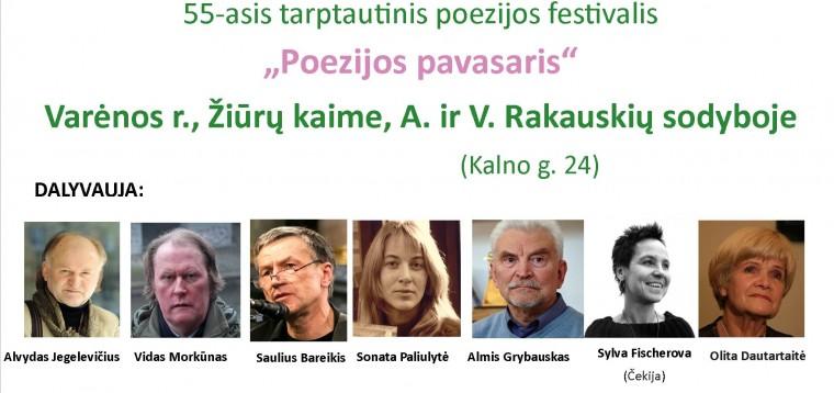 """55-asis tarptautinis poezijos festivalis """"Poezijos pavasaris"""""""
