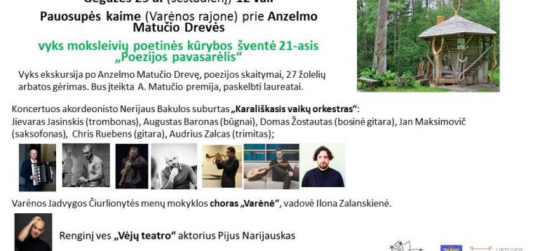 """Poetinės kūrybos šventė 21-asis """"Poezijos pavasarėlis"""""""